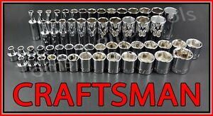 Craftsman 56pc Standard Deep 3 8 Sae Metric Mm 6pt Ratchet Wrench Socket Set