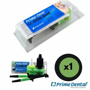 1 New Dental Light Cure Orthodontic Resin Adhesive Lc ortho Bond Kit Prime Dent
