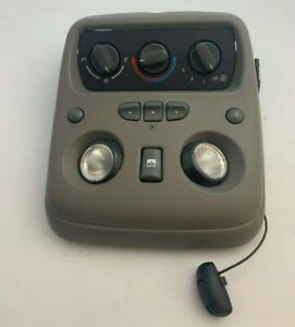 99 02 Suburban Tahoe Yukon Overhead Dome Light Homelink Roof Switch Gray