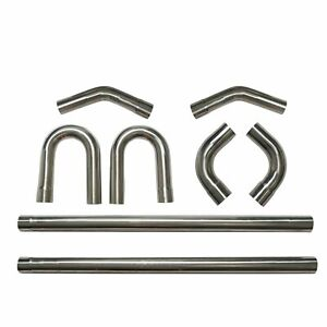 2 5 Stainless Steel Builder Mandrel Bend Straight 45 90 Degree Tubing Pipe Kit