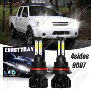 For Nissan Frontier 2001 2004 9007 Hb5 4side Led Headlight Bulbs High low Beam