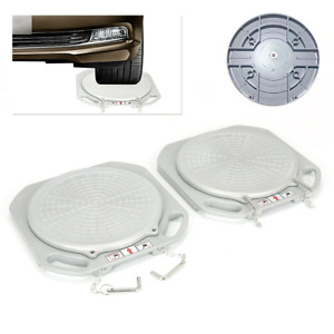 2 Wheel Durable Car Front End Wheel Alignment Turntable Turn Plates Tools