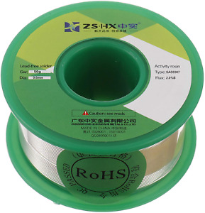 Zshx Lead Free Solder Wire Sn99 Ag0 3 Cu0 7 Rosin Core Solder Wire For Electrica