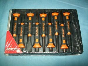 New Snap on Ppcsg710 10 piece Punch Chisel Set Orange Soft Grip Missing 1