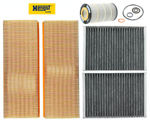 Filter Kit Air Cabin Engine Oil Filters For Mercedes W221 S550 2007 2011