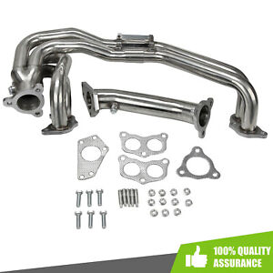 Unequal Slip Joint Exhaust Manifold Header Uppipe Fits Subaru Impreza Wrx sti