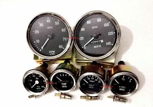 Smiths Replica Kit Elec Temp Oil Fuel volt Gauge speedometer tacho 100 Mm