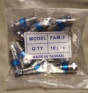 Lot Of 10 Toner Fam 3 Coax Attenuator 3db