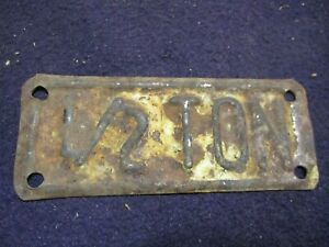 Vintage 1 2 Half Ton Truck License Plate Topper Accessory Ford Gm Dodge Chevy