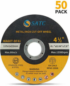 50pack Cut Off Wheels 4 1 2 Metal Stainless Steel Cutting Disc For Angle Grinder