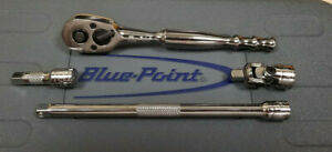 New Blue Point By Snap On 1 4 Quick Release Ratchet Extension Swivel Head Set