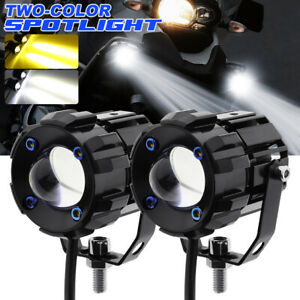 2x 30w Led Motorcycle Headlight Spot Light Hi lo Beam Fog Lamp Car Suv Universal