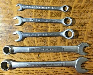 Lot Of 5 Sae Craftsman Professional Combination Speed Wrench Set 15 64 7 16 V