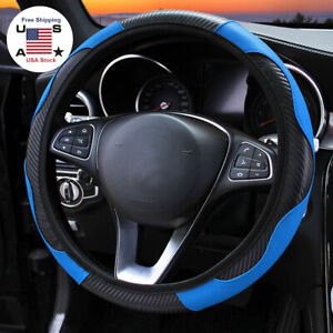 Car Suv Steering Wheel Cover Microfiber Leather Breathable Anti Slip Accessories