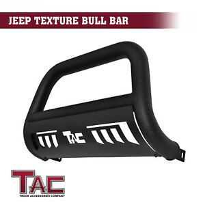For 2010 2018 Jeep Wrangler Jk Suv 3 Texture Bull Bar Front Bumper Grille Guard