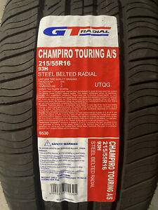 4 New 215 55 16 Gt Radial Champiro Touring A s Tires