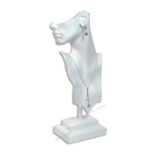 Jewelry Mannequin Display Earring Display Necklace Display Stand White 19 5 Tall