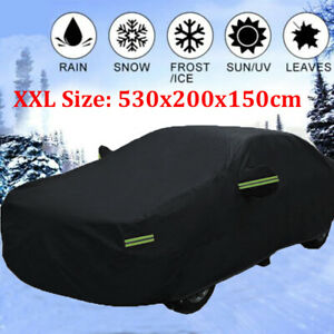 Xxl 420d Full Car Cover Dust Snow Resistant All Weather Protection Fit Upto 209