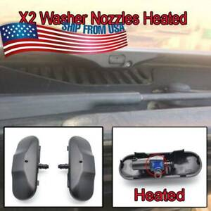 2pcs Auto Windshield Washer Nozzle Spray Heated For Vw Beetle Passat Golf Eos