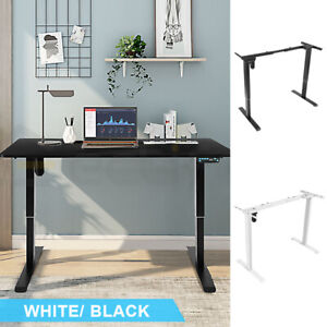 Electric Height Adjustable Standing Desk Frame Single Motor Memory Touch Control