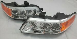 2004 2008 Acura Tsx Complete Direct Replacement Headlight Set New