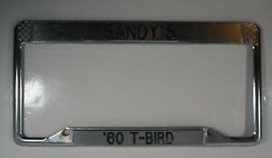 Vintage 1960 s T bird License Plate Frame