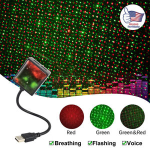 Car Roof Led Usb Star Light Sleep Romantic Starry Night Sky Projector Lamp 360
