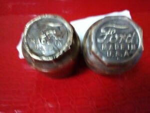 Vintage Antique Ford Model A Oil Dust Brass Caps For Wheels