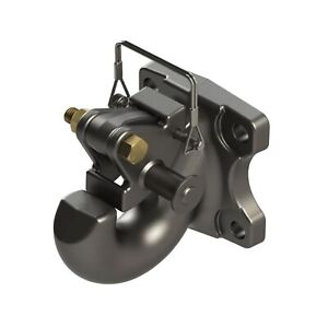Wallace Forge 2058115 Black R 30 Ton Rigid Mount 60 000 Lbs Gtw Pintle Hook