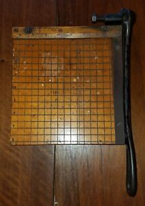 Vintage Wooden Guillotine Paper Cutter Photo Trimmer Ingento Ideal School Supply