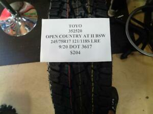 1 New Toyo Open Country At Ii Bsw 245 75 17 121 118s Tire Wo Label 352520 Q0