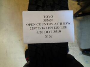 1 New Toyo Open Country At Ii Bsw 225 75 16 115 112q Lre Tire Wo Label 352650q0