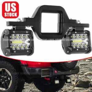 Tow Hitch Mounting Bracket 3 row Led Tow Light Pods Backup Reverse 4 For Truck