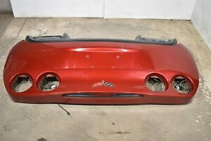 05 13 Corvette C6 Rear Bumper Cover Fascia Valance Damaged Crystal Red Aa6675