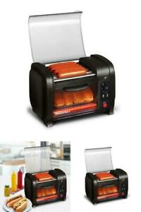 Hot Dog Roller N Toaster Oven Machine Cooker Sausage Kitchen Bun Warmer Rollers