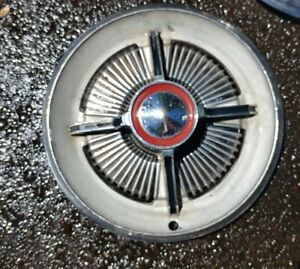 1965 65 Vintage Ford Galaxie Ltd Hubcaps Wheel Cover Spinner Hub Cap Good
