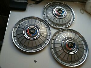 1962 62 Ford Fairlane Galaxie Hubcaps Wheel Covers Center Caps Vintage Classic