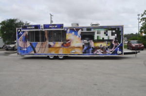 Brand New 2020 8 5 X 30 Commercial Mobile Kitchen Food Concession Trailer Fo