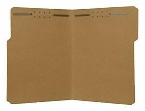 The File King Kraft File Folder Letter Size 1 3 Top Tab With Fasteners For