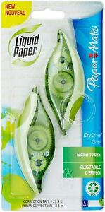 Paper Mate Liquid Paper Dryline Grip Correction Tape Recycled 2 Count