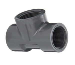 Spears 805 012 1 1 4 Fpt Schedule 80 Pvc Threaded Fitting Tee