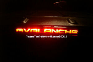 Fits Chevy Avalanche 3rd Brake Light Decal 2007 2008 2009 2010 2011 2012 2013