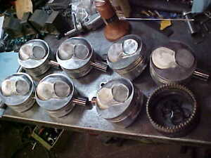Je Bbc Pistons 4 500 Bore 550 Dome 1 125 Ch W Rings 990 Pin Oil Support Rings