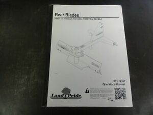 Land Pride Rb0548 Rb0560 Rb1560 Rb1572 Rb1584 Rear Blades Operator s Manual 11