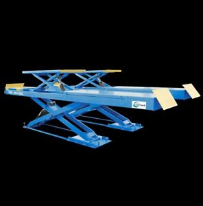 8000ibs Car Scissor Lift With Second Lifting Rb 35cbl Used For Alignment