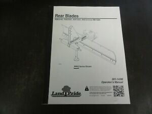 Land Pride Rb0548 Rb0560 Rb1560 Rb1572 Rb1584 Rear Blades Operator s Manual 13