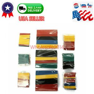 Hot 328pc 2 1 Heat Shrink Tubing Tube Wrap Wire Cable Sleeve Assortment 8 Size