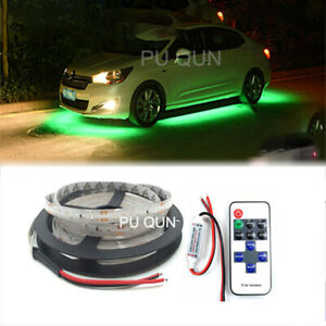 Under Car Led Strip Underbody Underglow Glow Neon Light 16ft Green W remote