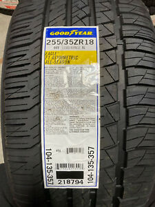 2 New 255 35 18 Goodyear Eagle F1 Asymmetric All Season Tires