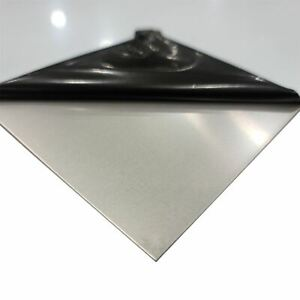 304 Stainless Steel Sheet 0 060 16 Ga X 12 Inches X 24 Inches Pvc 1 Side